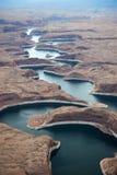 Zona di ricreazione nazionale del canyon della valletta fotografie stock libere da diritti