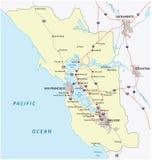 Zona di San Francisco Bay illustrazione di stock