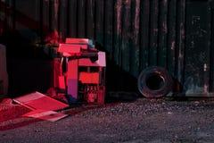 Zona di scarico rifiuti della cava Immagine Stock