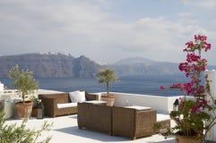 Zona di seduta, ricorso in Grecia Immagini Stock Libere da Diritti