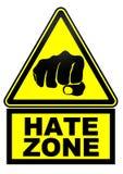 Zona do ódio Sinal de aviso ilustração royalty free