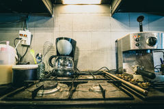 Zona do café para cozinhar foto de stock