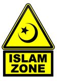 Zona do Islã Sinal de aviso ilustração royalty free