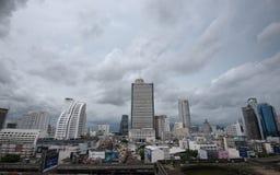 Zona do negócio em Banguecoque, Tailândia Imagens de Stock