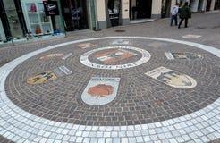 Zona do pedestre de Kramergasse Fotos de Stock Royalty Free