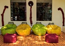 Zona do resto no hotel tropical Ranveli Foto de Stock Royalty Free