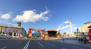 Zona do ventilador do EURO 2012 do UEFA em Kyiv Fotos de Stock