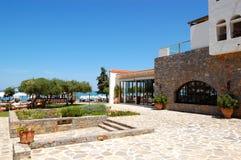 Zona e ristorante di ricreazione dell'albergo di lusso Fotografia Stock