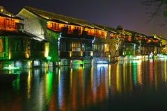 Zona escénica del oeste de Wuzhen Fotos de archivo libres de regalías