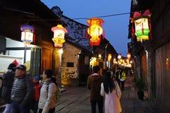Zona escénica del oeste de Wuzhen Fotografía de archivo