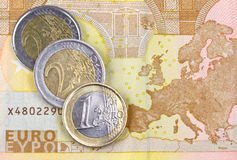 Zona Euro Imagens de Stock