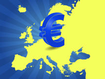 Zona euro Fotografia Stock