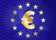 Zona euro Fotografie Stock Libere da Diritti