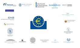 Zona euro Fotografia Stock Libera da Diritti