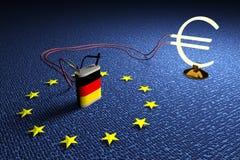 Zona euro que utiliza Imagen de archivo