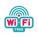 Zona franca di Wi-Fi - vettore Logo Sign Fotografia Stock