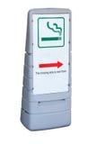 Zona fumatori Fotografia Stock