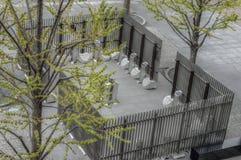 Zona fumatori all'aperto nel Giappone immagini stock