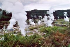 Zona geotermica immagine stock