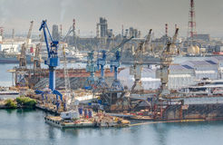Zona industrial pesada Imagem de Stock