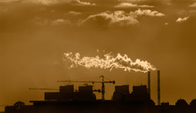 Zona industriale fotografie stock