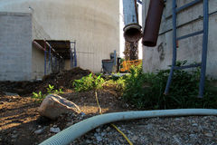 Zona industriale abbandonata Urbex Fotografia Stock