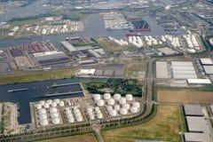 Zona industriale di Amsterdam Westpoort nei Paesi Bassi fotografia stock