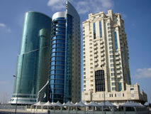 Zona industriale Doha, Qatar Fotografia Stock Libera da Diritti