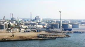 Zona industriale sulla costa della Tunisia Fotografia Stock