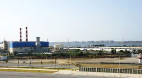 Zona industriale sulla costa della Tunisia Fotografia Stock Libera da Diritti