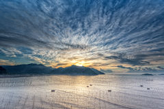 A zona intertidal litoral fotos de stock royalty free