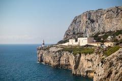 Zona leste do crematório de Gibraltar da rocha fotos de stock