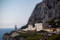 Zona leste do crematório de Gibraltar da rocha fotografia de stock