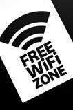Zona libera di WiFi Fotografia Stock Libera da Diritti