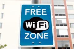 Zona libera di wifi Fotografia Stock
