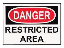Zona limitata del pericolo Fotografia Stock