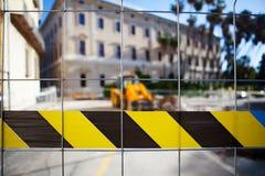 Zona limitata Lavori pubblici Fotografie Stock Libere da Diritti