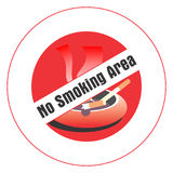 Zona non fumatori. Immagine Stock
