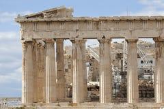 Zona oriental do Parthenon foto de stock