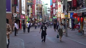 zona pedestre de compra japonesa da cidade de Shibuya do centro da rua da metrópole 4K filme