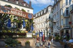 Zona pedonale nella vecchia città di Baden-Baden Fotografia Stock Libera da Diritti