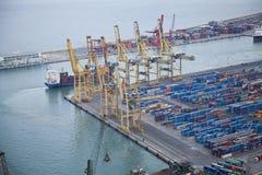 Zona portuaria industrial Imagenes de archivo