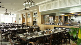 Zona pranzante di Sarkies in hotel orientale & orientale Immagini Stock Libere da Diritti