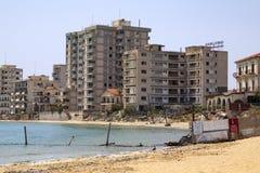 Zona proibida - Famagusta - turco Chipre Imagem de Stock Royalty Free