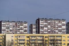 Zona residenziale con le alte costruzioni Fotografie Stock Libere da Diritti