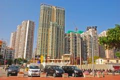 Zona residenziale del grattacielo ad area di Taipa a Macao fotografie stock