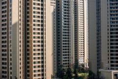 Zona residenziale del nord del ponte di Chongqing Chaotianmen Yangtze River Bridge Immagine Stock
