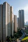 Zona residenziale del nord del ponte di Chongqing Chaotianmen Yangtze River Bridge Immagini Stock Libere da Diritti