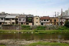 Zona residenziale di Kyoto Fotografia Stock