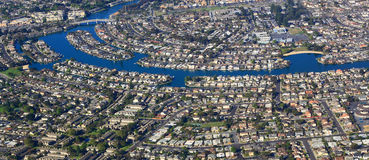 Zona residenziale di vista aerea Fotografie Stock